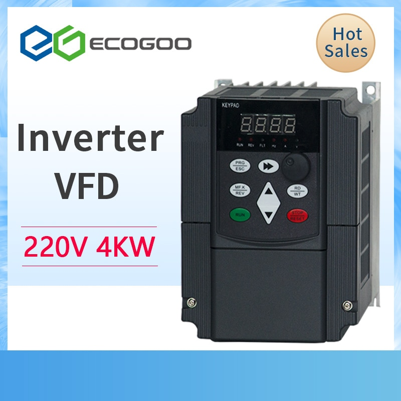 Inversor de frecuencia VFD 1.5KW/2.2KW/4KW CoolClassic VFD, convertidor inversor de frecuencia para motor ZW-AT1 3P 220V salida wcj5.