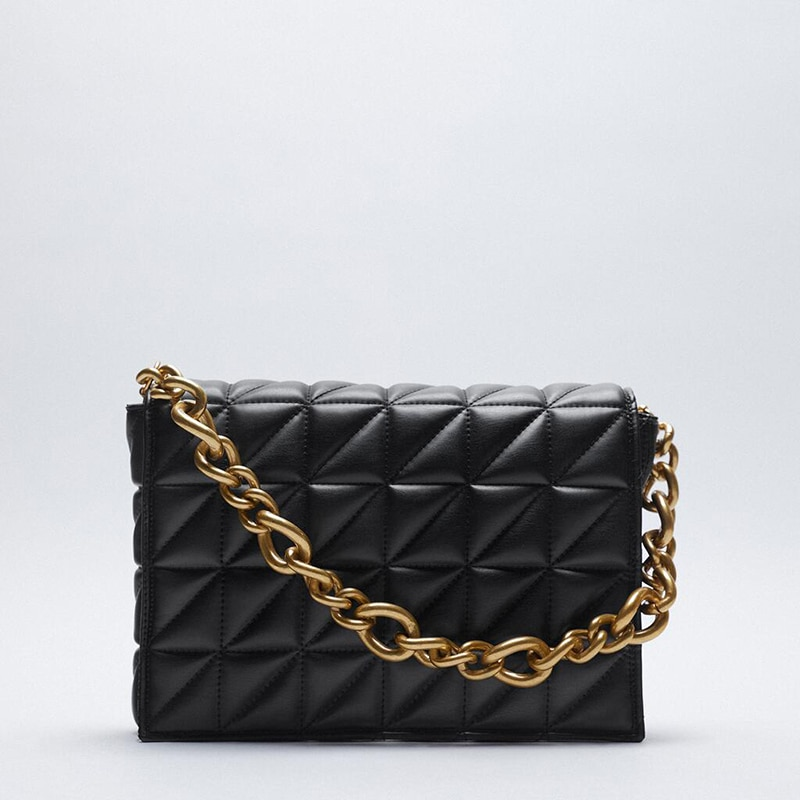 Branded Women's Shoulder Bags 2020 Thick Chain Quilted Shoulder Purses And Handbag Women Clutch Bags