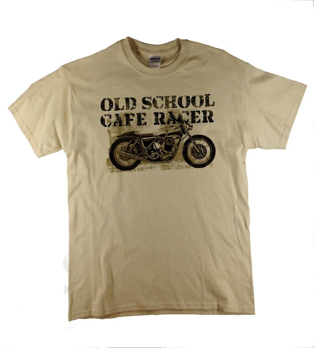 Old school cafe racer britânico clássico bicicleta norton motocicleta retro 2020 marca moda masculina puro algodão personalizado t camisas barato