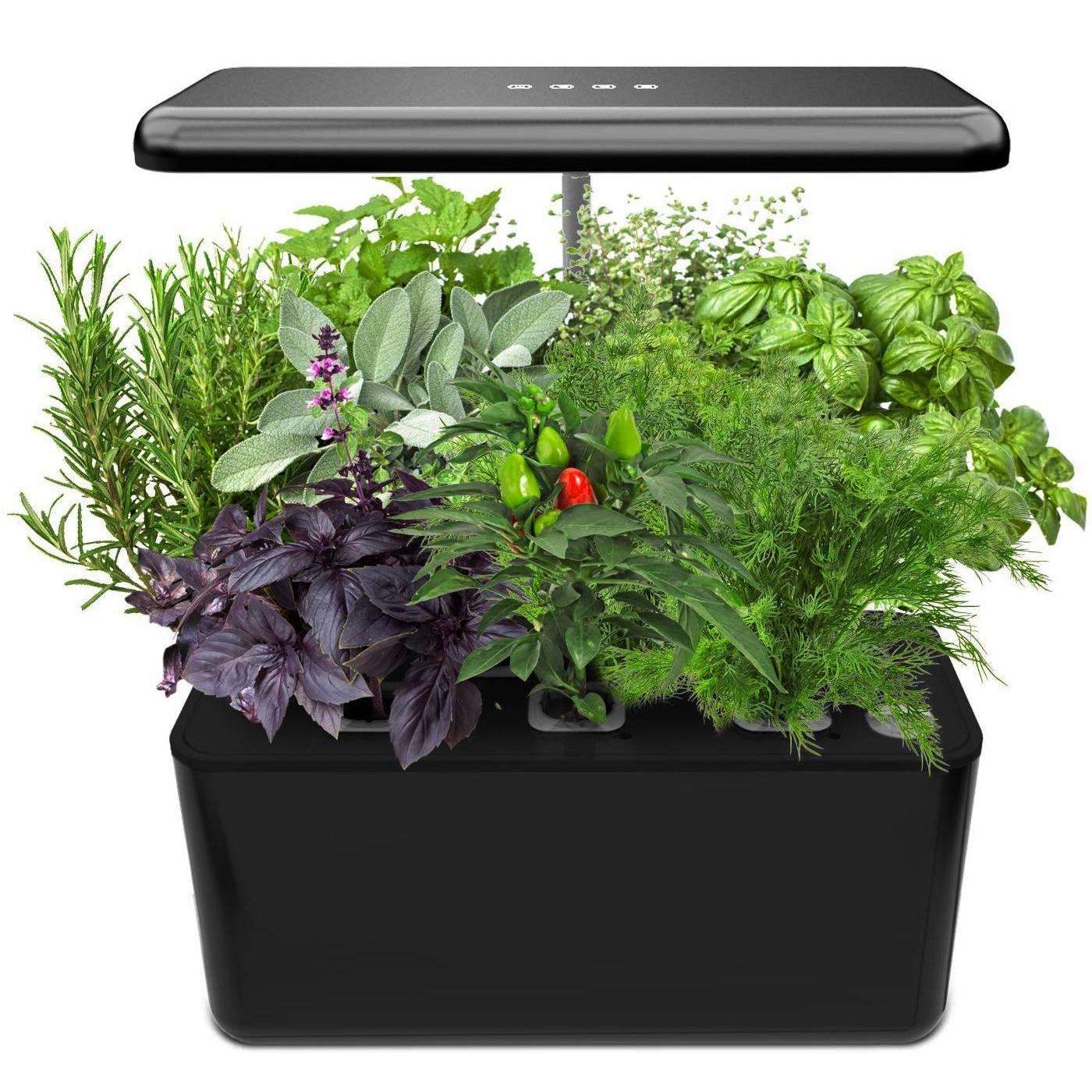 الزراعة المائية نظام النمو ، داخلي عشب حديقة بداية عدة مع LED تنمو ضوء ، الذكية حديقة زارع للمطبخ المنزل ، التلقائي