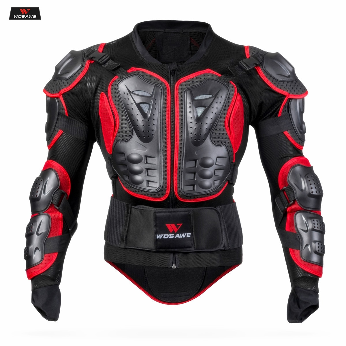WOSAWE Motorcycle Jacket Men Full Body Armor Jacket Motocross Racing Protective Gear Back Chest Shoullder Elbow Protection wosawe motorcycle jacket full body armor back chest protector motocross racing clothing riding protective gear moto protection