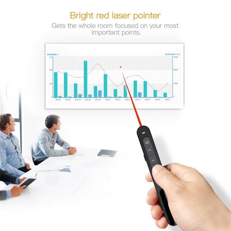 ¡Oferta! Presentador láser inalámbrico RF 2,4 GHz Powerpoint presentación mando a distancia PPT Clicker presentación lápiz láser