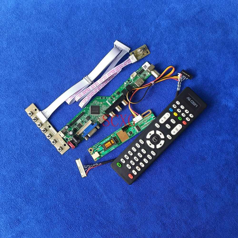 لوحة تحكم بشاشة LCD طقم تناظري للإشارة 30 دبوس LVDS 1280*768 Fit B140EW01/LP140WX1 1-CCFL AV VGA USB HDMI متوافق