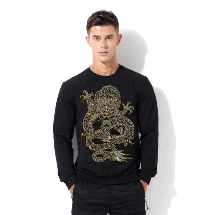 2020 new designer Sweatshirt Men O-Neck hoodies Hot drill Casual Streetwear Tops hoodies