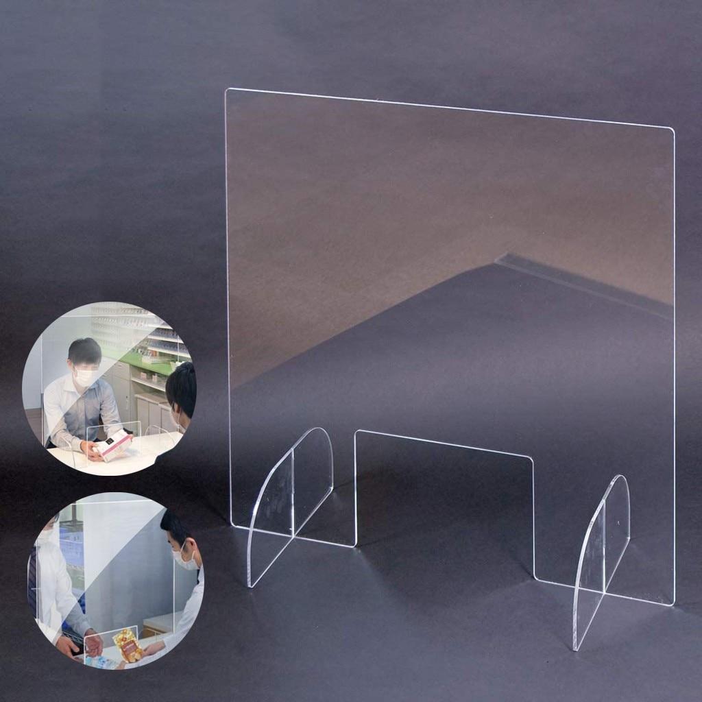 Recepción venta lateral contador rociado UV corte transparente altura Oficina protección suministros espuma defensa partición clara perfección