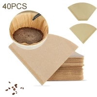 40pcspack coffee replacement filters paper cup filter paper espresso mocha pot one time strainer sheet coffee tools