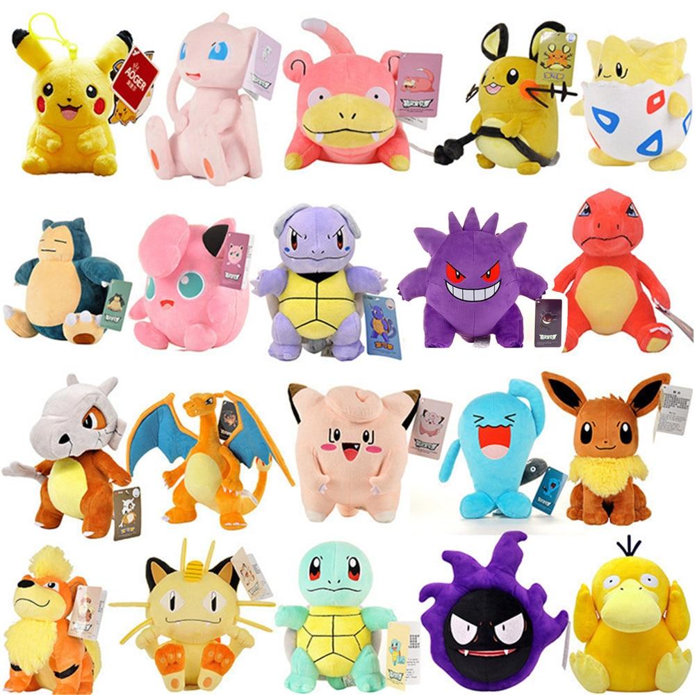 Pokemon Stuffed Plush Toys 20/25CM Kawaii Pikachu Jenny Turtle Anime Plush Doll Kids Birthday Christmas Gift
