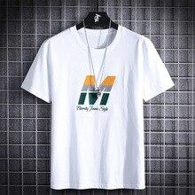 HIO HOP LOOSE Mens T-shirts Fashion 2020 Summer Short Sleeves BLACK WHITE Tshirt Tees Plus Asian OVERSize L-6XL 7XL 8XL