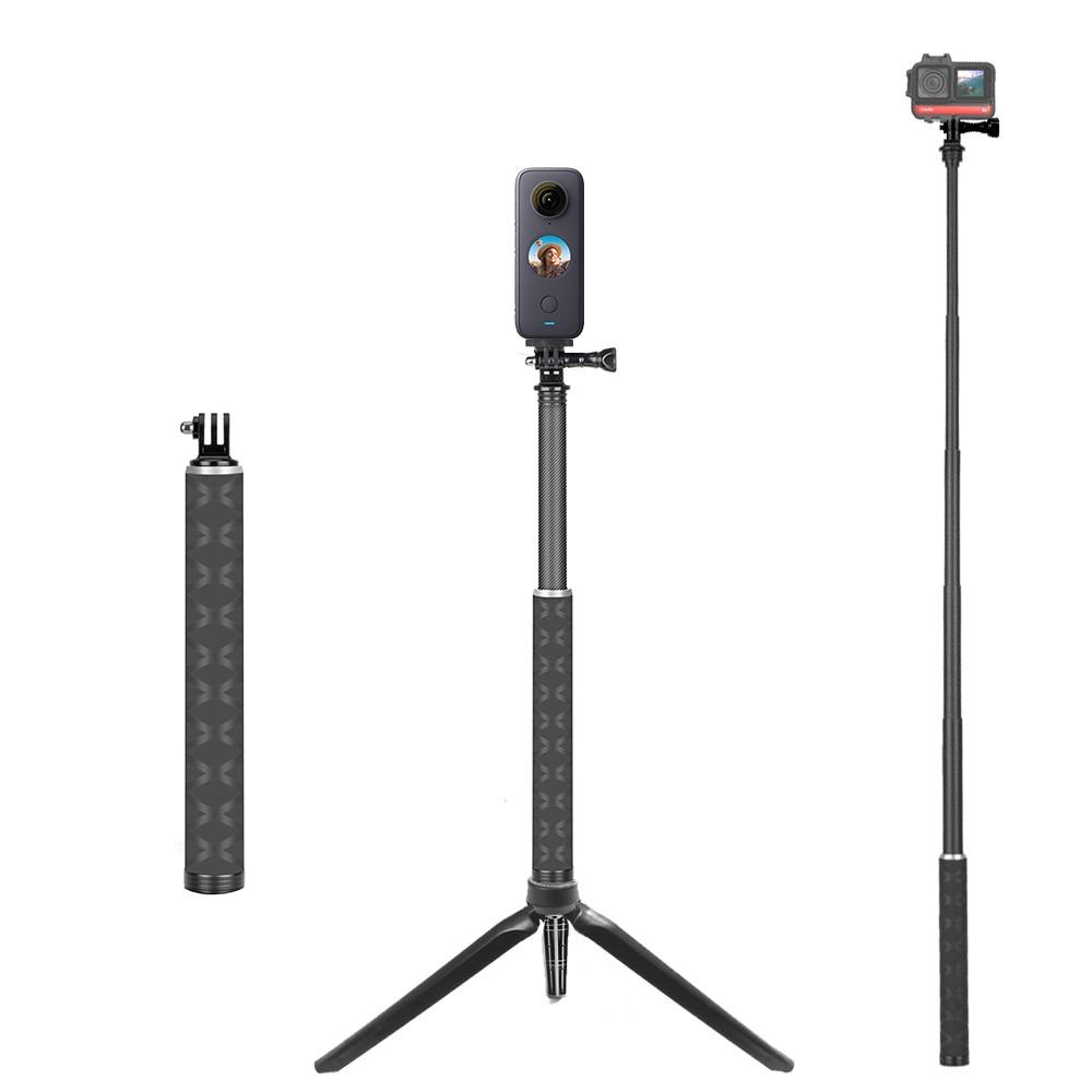 TUYU-عصا سيلفي من ألياف الكربون الأخف ، 90 سنتيمتر ، حامل ثلاثي القوائم لـ GoPro Max Hero 9 6 7 8 لـ DJI Osmo instaner 360 X2 ، ملحقات الكاميرا