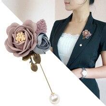 I-remiel mode coréenne nouveau tissu fleur broche broche châle broches pour les femmes tissu Art revers Corsage Badge chemise col accessoires
