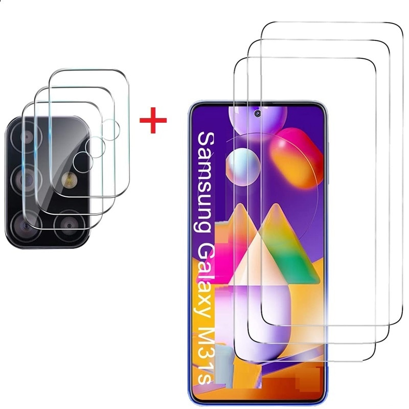 2 en 1 Protector de pantalla para Samsung Galaxy M31S M30S A10...