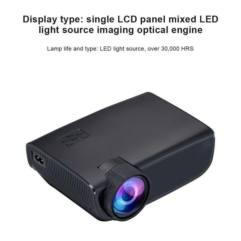 جهاز عرض مسرح منزلي LED ، جهاز عرض ثلاثي الأبعاد بدقة 1080 بكسل ، 4K ، HD ، للسينما المنزلية ، Android و IOS