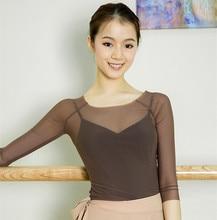 Klassische Tanz Kleidung Gaze Erwachsene Praxis Kleidung 3/4 Langarm Ballett Mesh Top Ballett Kleidung Tanz Kostüme