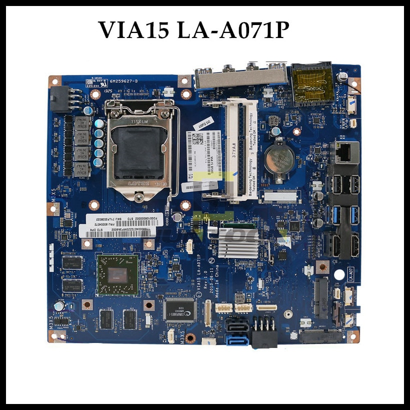 B550 AIO Motherboard For Lenovo B550 AIO Intel Motherboard VIA15 LA-A071P FRU 90004107 2G HD8850 100% Tested Fast Ship