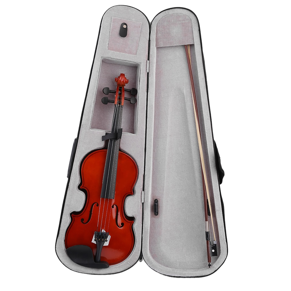 4/4 Violin Natural Acoustic Solid Wood For Beginner Students Kids with Violin Case  Rosin Bow Professional Musical Instrument 1pc violin rosin natural rosin for bows less dust violin viola cello bows rosin black rosin musical instrument accessories