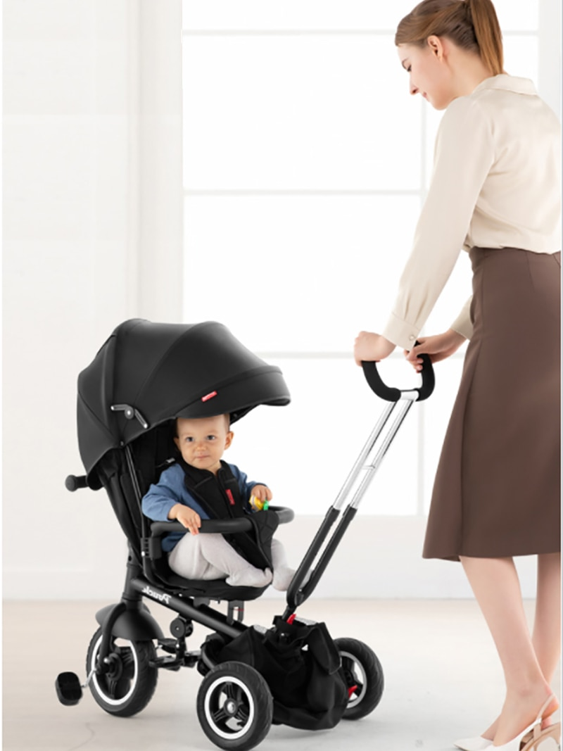 B06 Pouch Three Wheel Driver Cart Bicycle Multi-Functional Two-Way Baby Cart Children's Bicycle enlarge