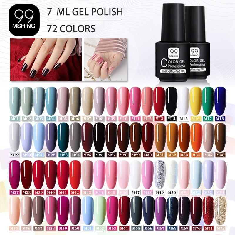 MSHING99 Gel Polish Set All For Manicure Semi Permanent Vernis top coat UV LED Gel Varnish Soak Off Nail Art Gel Nail Polish