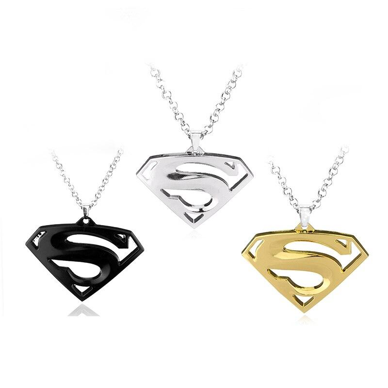 Superman Necklace link chain pendant for fans gift choker necklace for Women Men