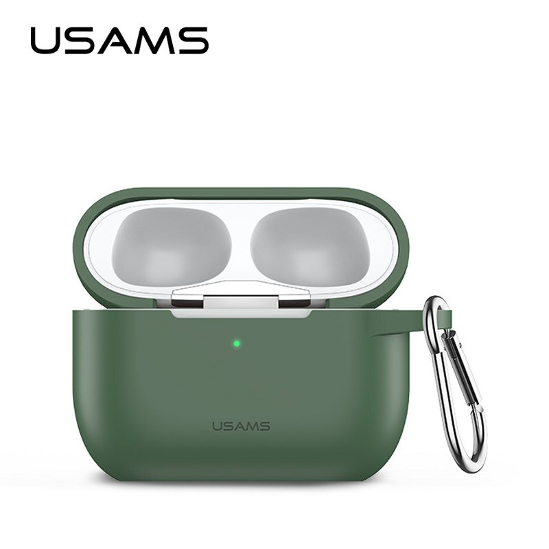 Usams macio caso de silicone para vagens ar pro à prova de choque fone de ouvido capa protetora à prova dwaterproof água para iphone 7 acessórios caso
