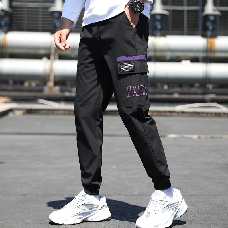 Мужские Модные шаровары, джоггеры, высококачественные мужские длинные брюки, брюки-карго, уличная одежда, новинка 2021, повседневные спортивн...