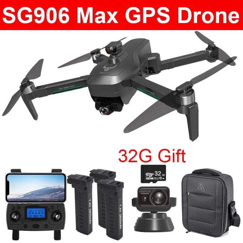 SG906 ماكس 4K UHD EVO 3 محور كاميرا ذات محورين بدون طيار لتحديد المواقع واي فاي 5G FPV تجنب عقبة أجهزة الاستقبال عن بعد 1200 متر التحكم عن بعد 27 دقيقة