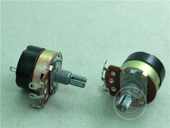 138-tipo com Potenciômetro do Interruptor 15mm do Punho Pces Comprimento Eixo Serrilhado 8 B500k –