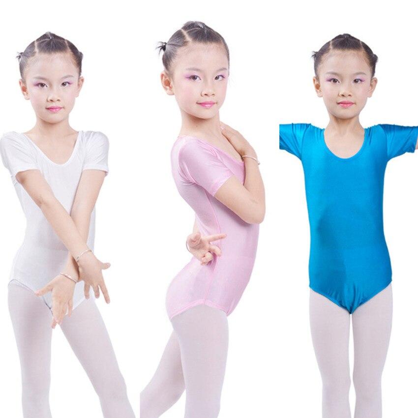 Ginástica collant maiô ballet tutu dance wear para meninas vestidos de dança de salão roupas de patinação para a menina corpo terno elastano