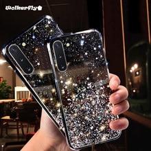 Paillettes Bling Transparente étui pour samsung Galaxy A10S A20S A80 A70 A50 A30 S10E S10 5G S9 S8 Plus A7 A9 A2018 Note10 Couverture Souple