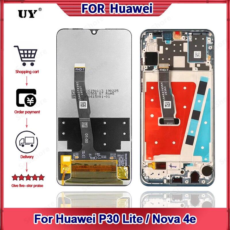 العرض الأصلي لهواوي P30 لايت شاشة تعمل باللمس لهواوي نوفا 4E LCD عرض استبدال أجزاء MAR-LX1M ، Marie-L21A