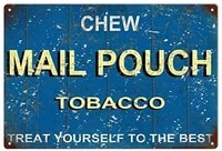 retro home decoration metal tin sign chew mail pouch tobacco treat yourself to the best blue decorative metal plate 8x12 inches