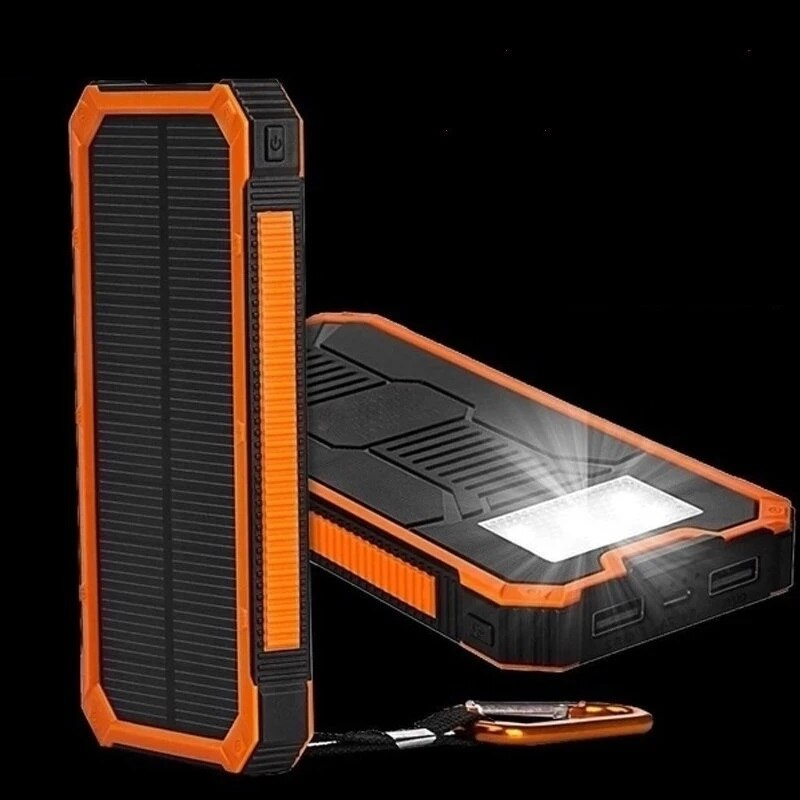Huge Capacity Solar Power Bank 30000mAh Dual-USB Waterproof Solar Power Bank Battery Charger For All Phone Iphone Huawei Xiaomi