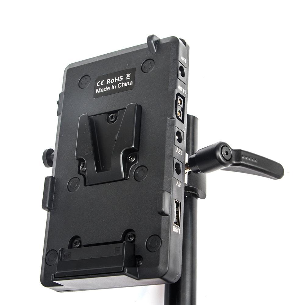 FOTGA V-Mount Power Supply Systerm Battery Plate Adapter V-Lock D-tap لكاميرا Sony D-Tap DSLR