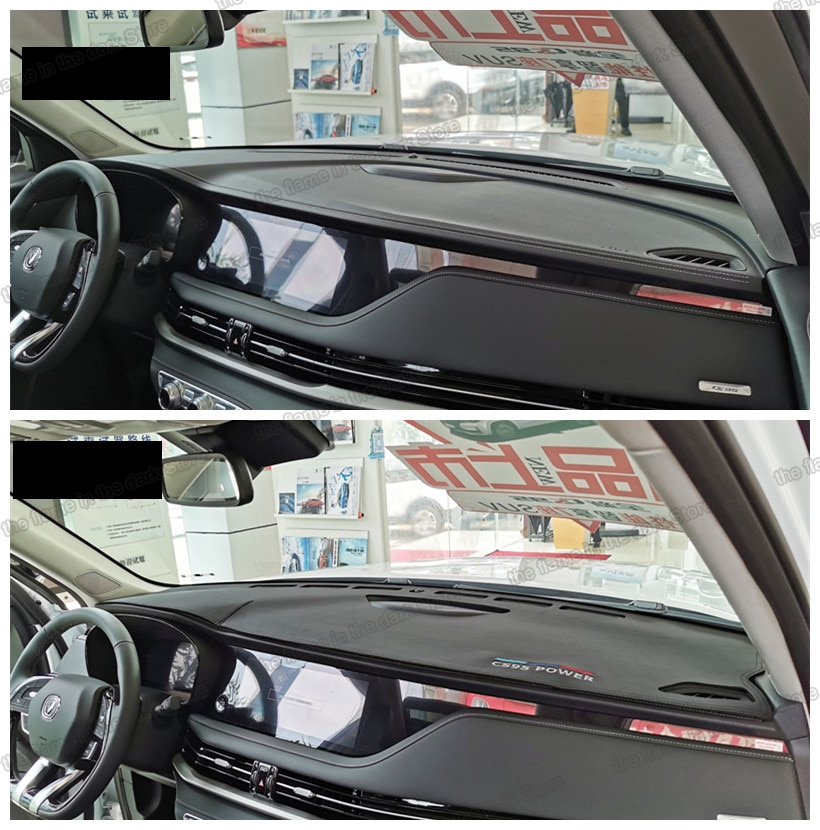 lsrtw2017 fiber leather car dashboard anti-reflective mat for changan cs95 2017 2018 2019 2020 2021 carper cover accessories