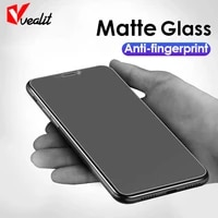 no fingerprint full cover matte tempered glass for iphone 11 12 pro xs max mini xr x 6s 7 8 plus frosted glass screen protector