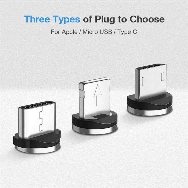 USB Port Magnetic Adapter Charger 2 In 1 Data Sync Cable Compatible With IOS And Android And Type C For Charging Data Transfer