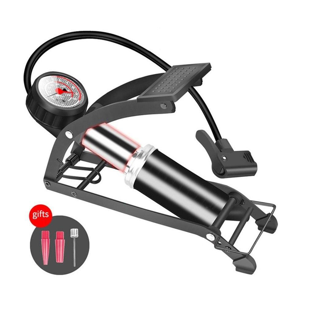 Bomba de aire, medidor de precisión, pie de doble cilindro, inflador de alta presión, bicicleta, Scooter, motocicleta, bomba de aire inflable
