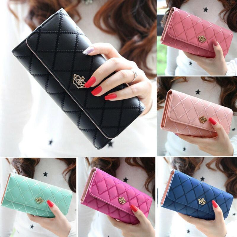 Women Lady Long Card Holder Phone Bag Case Purse Handbag Clutch Leather Wallet Waterproof