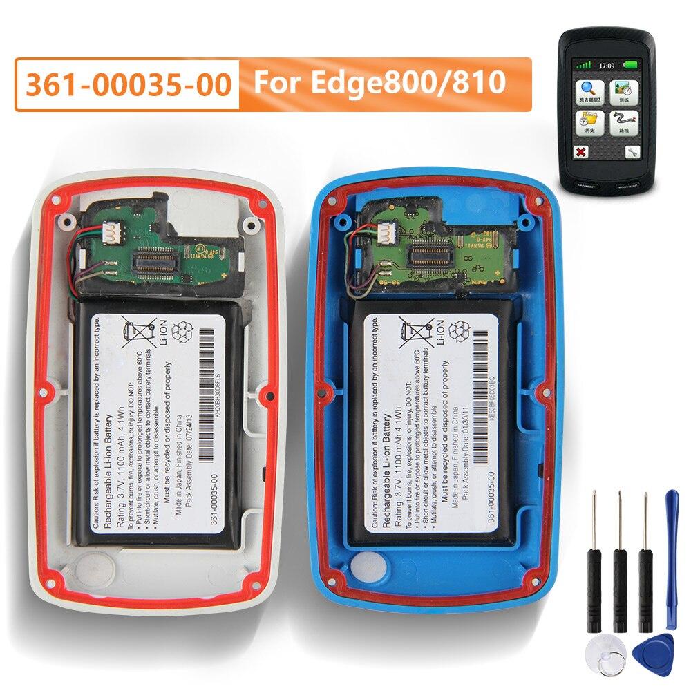 Batería de repuesto Original 361-00035-00 para Garmin Edge 800, batería recargable 810 auténtica, batería de 1100mAh con herramientas gratuitas