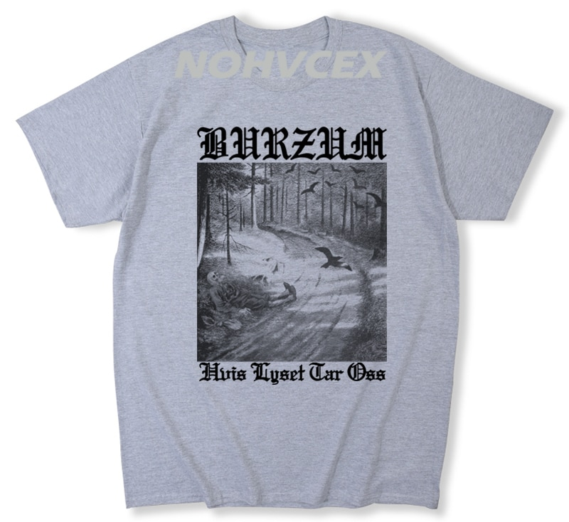 T-shirts estilo hip hop camisetas camiseta burzum hvis lyset tar oss