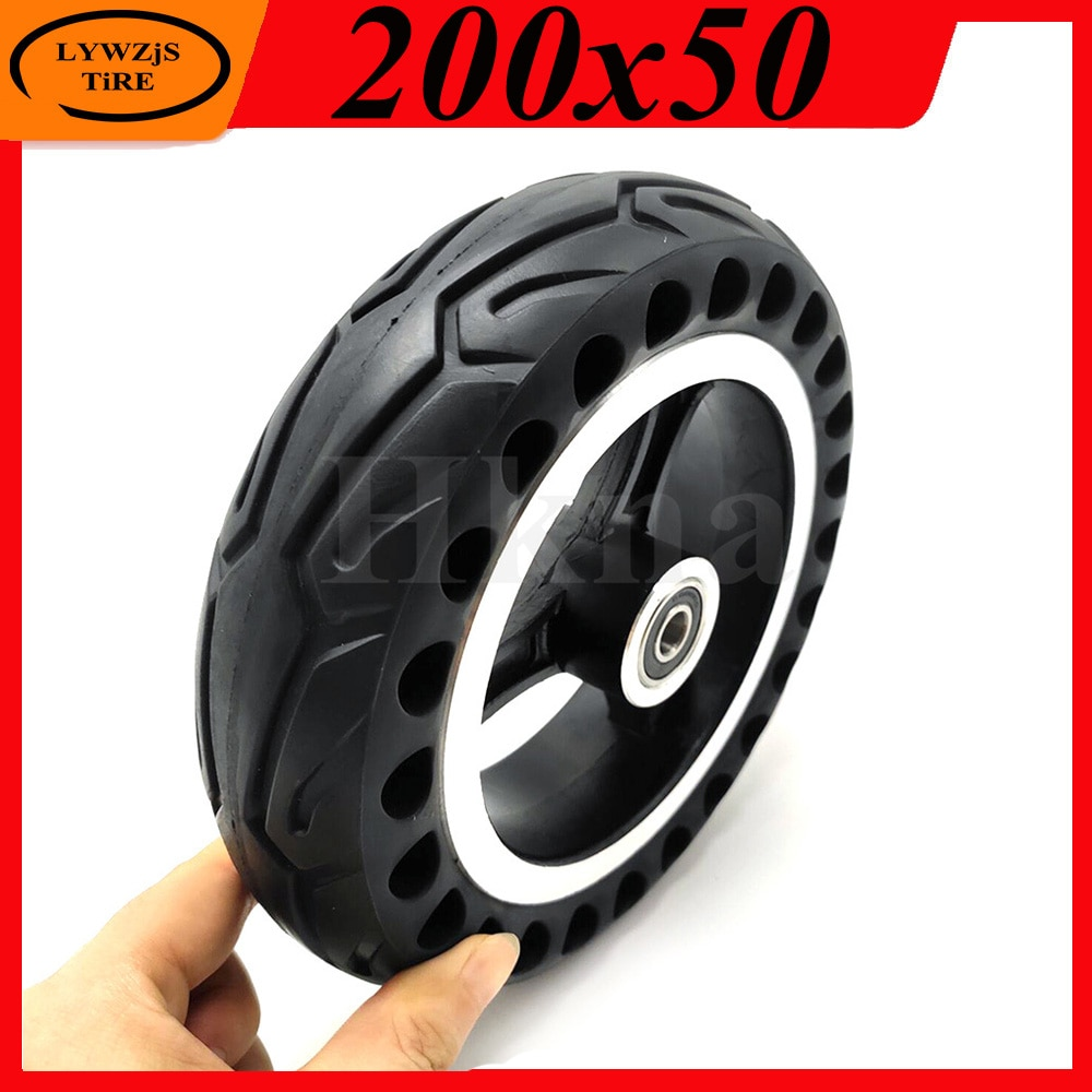 Neumático sólido a prueba de explosiones para patinete eléctrico, alta calidad, 200x50,...