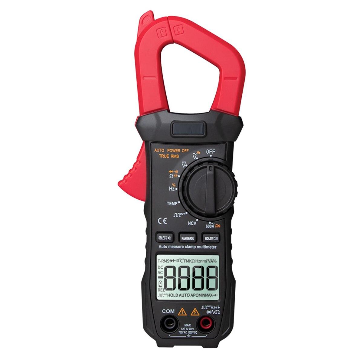 Aneng st209 digital multímetro braçadeira medidor 6000 contagens faixa automática verdadeiro rms dc/ac atual braçadeira tester voltímetro