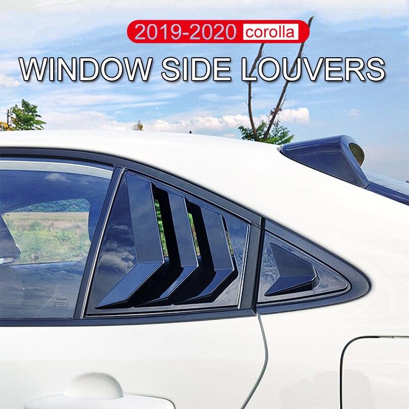 2019 2020 corolla ventana lateral rejilla de ventilación pp material fibra de carbono pegamento pasta ajuste efectivo