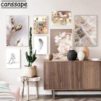 Affiches murales de pissenlits avec impression de paysage dautomne  affiches abstraites  citations de mode  image imprimee de plumes dart  decor de maison moderne