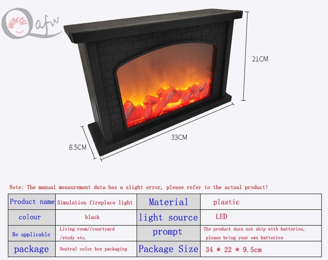USB powered portable simulation fireplace candle holder flame lamp night light fireplace lantern home decoration enlarge