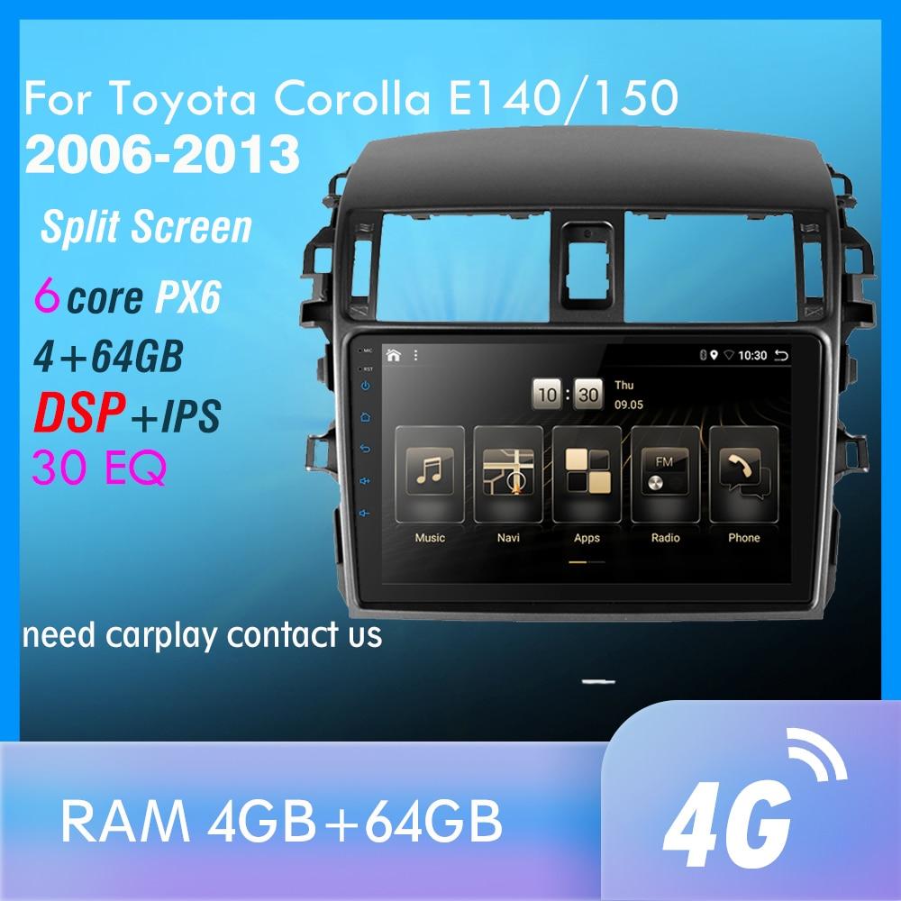 Mirrorlink iPhone Android 9,0 one din радио Bluetooth автомагнитола мультимедийный MP5 плеер для Toyota Corolla E140/150 2008-2013 без Android