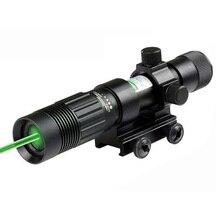 Taktische Jagd 5mW Grün Laser Anblick Umfang Fokus Seiten-Einstellbare mit 20mm Picatinny Schiene Montieren und Schwanz Linie schalter.