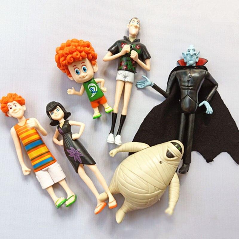 6pcs/set Hotel Transylvania Action Figure Model Dolls Toys Dracula Mavis Johnny Dennis Anime Figurals Dolls Christmas Gift