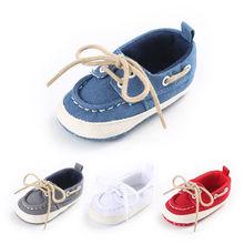 Nouveau-né bébé chaussures fille garçon Denim toile chaussures semelle souple enfant en bas âge infantile chaussures Prewalker Sneaker premier marcheur 0-18mois