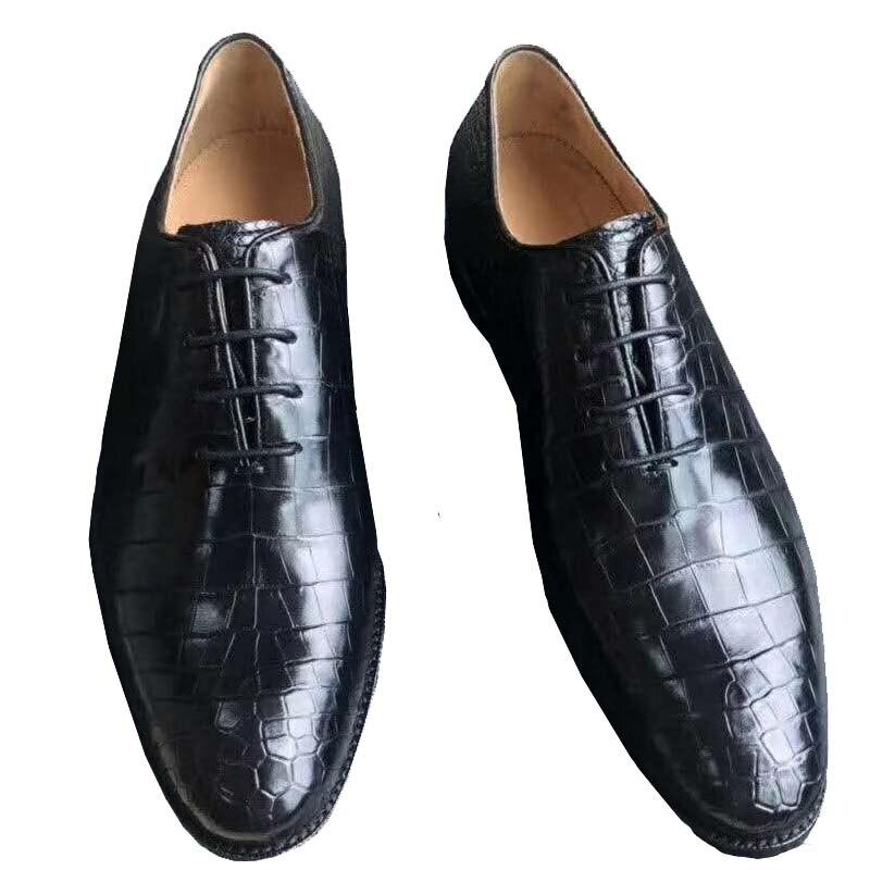 Xinepiju-أحذية جلدية تمساح للرجال ، أحذية رسمية ، تايلاندية