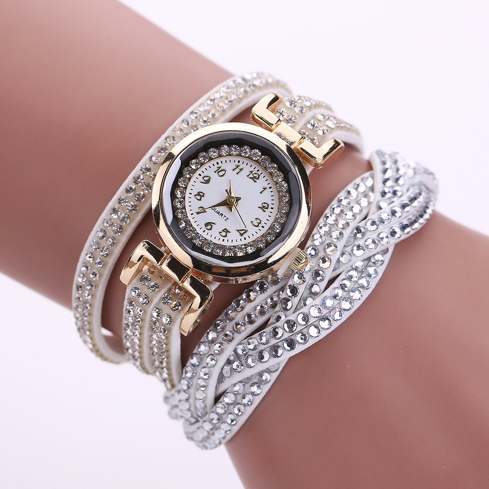 Fashion Women Quartz Watches Crystal Female Watch Women Quartz Watches With Bracelet Female Watch Gift For Girl Daughter women crystal watches bracelet set female jewelry luxury diamond white watch fashion rose gold starry quartz watch for lady gift